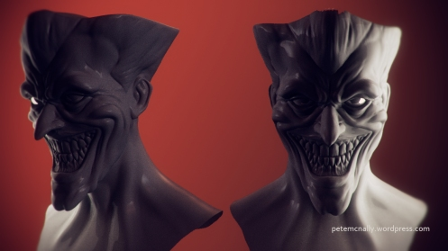 petemcnally_blog_joker_wip_sculpt